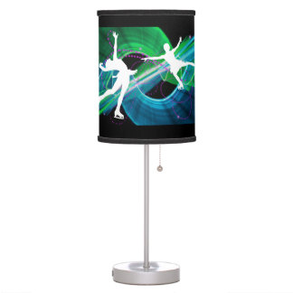 Bedazzled Figure Skaters Desk Lamp