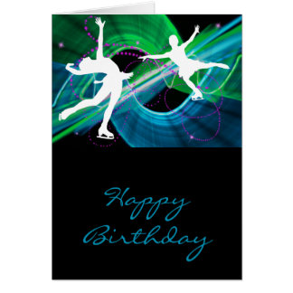 Bedazzled Figure Skaters Ice Skating Cards