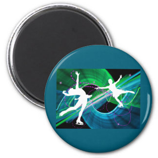 Bedazzled Figure Skaters Ice Skating Refrigerator Magnets