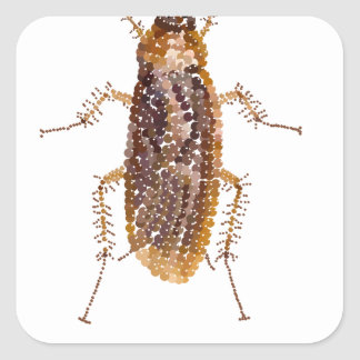 BEDAZZLED ROACH SQUARE STICKER