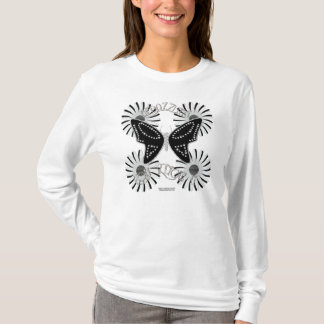 Bedazzling Butterfly Ladies Long Sleeve Shirt