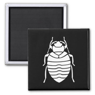 Bedbug Insect Print 2 Inch Square Magnet