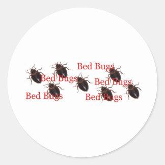 bedbugs round sticker