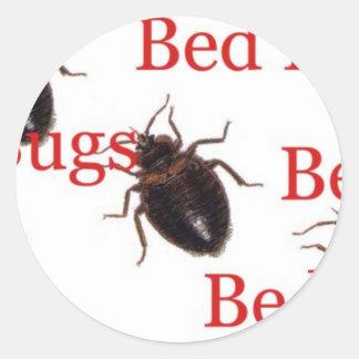 bedbugs round stickers