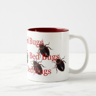 bedbugs Two-Tone coffee mug