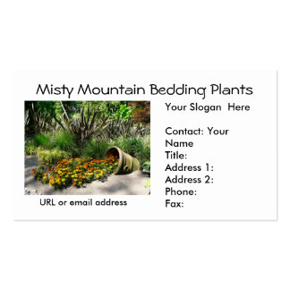 Bedding Flowers spilling out of Flower Pot Business Card