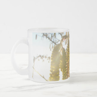 Bedecked 10 Oz Frosted Glass Coffee Mug