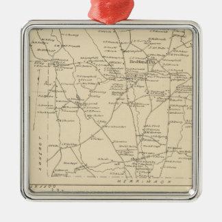 Bedford, Amherst, Hillsborough Co Metal Ornament
