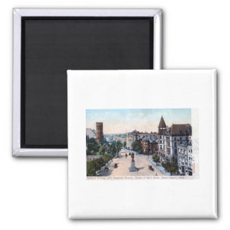 Bedford Ave., Brooklyn, NY 1906 Vintage 2 Inch Square Magnet