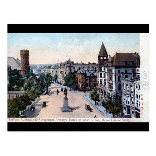 Bedford Ave., Brooklyn, NY 1906 Vintage Postcard