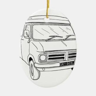 Bedford CF1 Ceramic Ornament