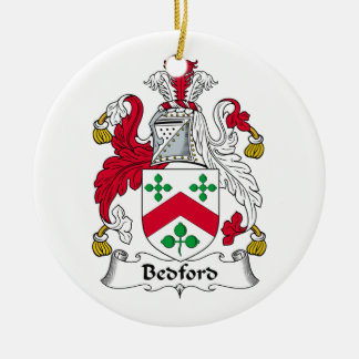 Bedford Family Crest Christmas Tree Ornament