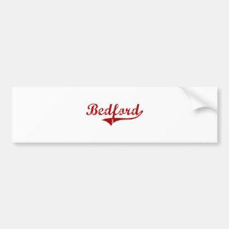 Bedford Massachusetts Classic Design Car Bumper Sticker