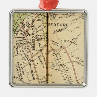 Bedford, New York 2 Metal Ornament