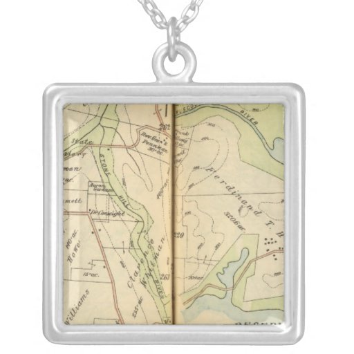 Bedford, New York 3 Square Pendant Necklace