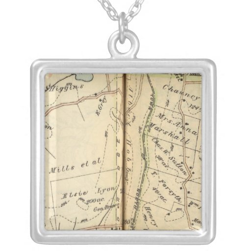 Bedford, New York Square Pendant Necklace