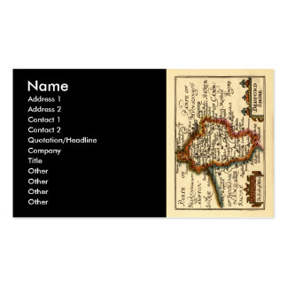 Bedfordshire County Map, England Double-Sided Standard Business Cards (Pack Of 100)