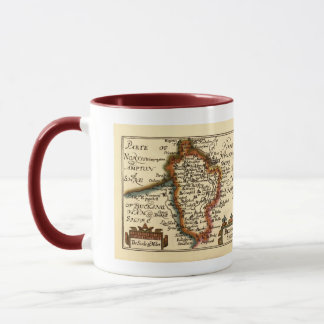 Bedfordshire County Map, England Mug