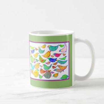 USA Themed Bedlam of Birds Coffee Mug