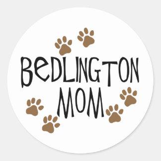 Bedlington Mom Round Sticker