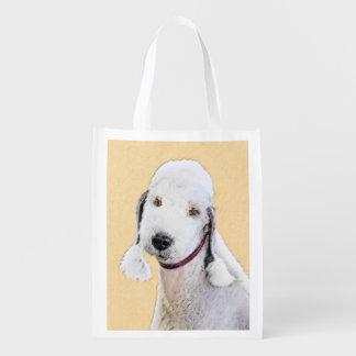 Bedlington Terrier 2 Grocery Bag