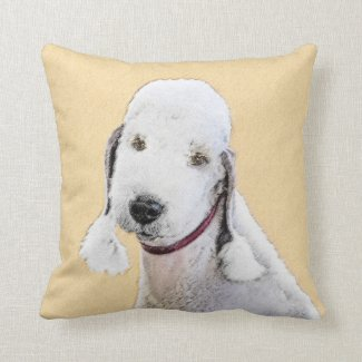 Bedlington Terrier 2 Throw Pillow