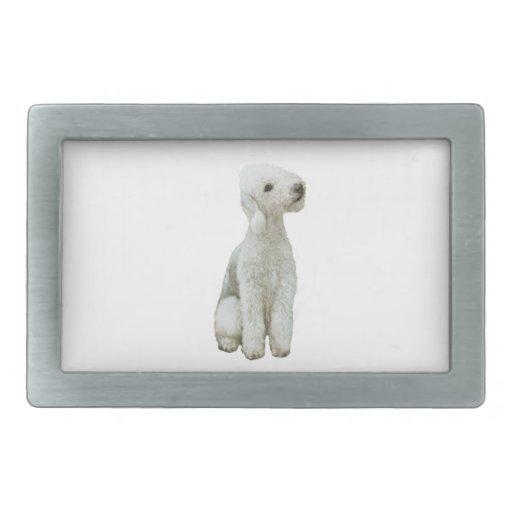 Bedlington Terrier (a) Hebilla De Cinturon Rectangular