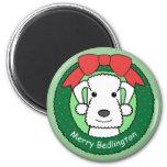 Bedlington Terrier Christmas Fridge Magnet