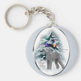 Bedlington Terrier Christmas Gifts Keychain