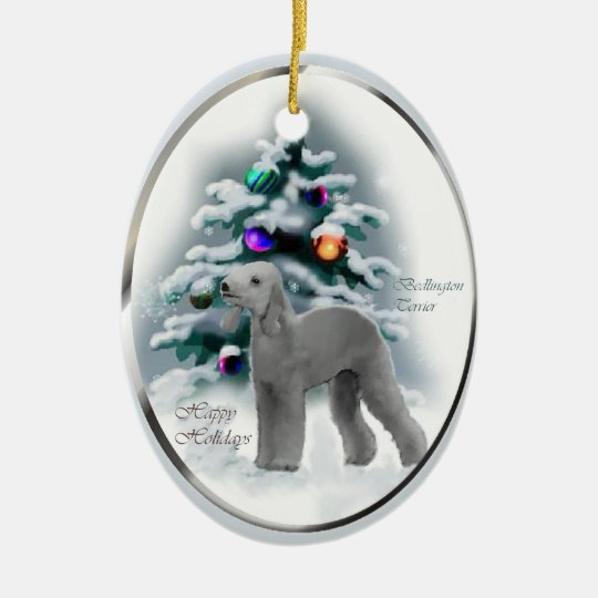 Bedlington Terrier Christmas Gifts Ornament