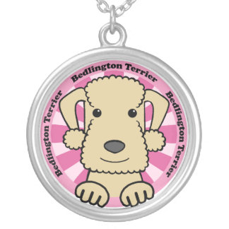 Bedlington Terrier Colgante Redondo