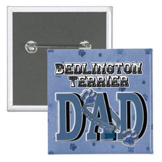 Bedlington Terrier DAD 2 Inch Square Button