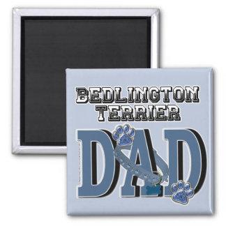 Bedlington Terrier DAD 2 Inch Square Magnet