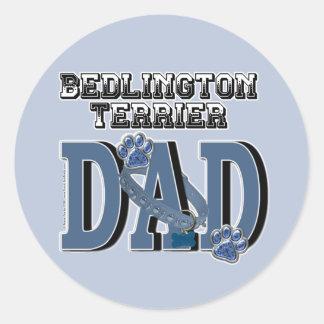 Bedlington Terrier DAD Classic Round Sticker