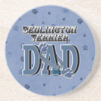 Bedlington Terrier DAD Drink Coasters