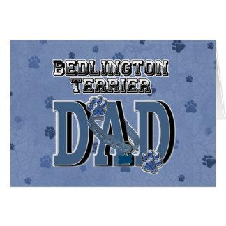 Bedlington Terrier DAD Greeting Card