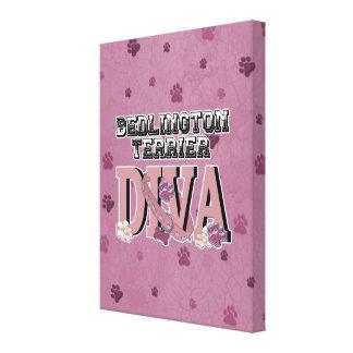 Bedlington Terrier DIVA Canvas Print