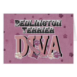 Bedlington Terrier DIVA Greeting Card