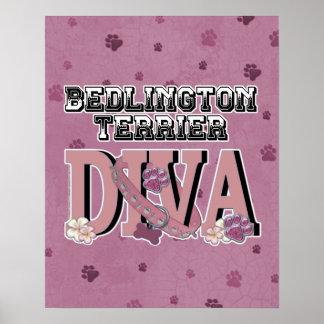 Bedlington Terrier DIVA Poster