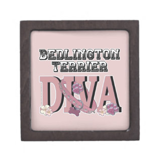 Bedlington Terrier DIVA Premium Trinket Box