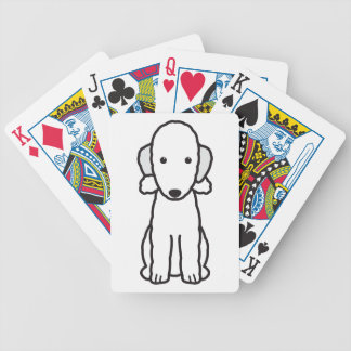 Bedlington Terrier Dog Cartoon Bicycle Playing Cards