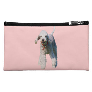 Bedlington Terrier dog cute beautiful photo Cosmetics Bags