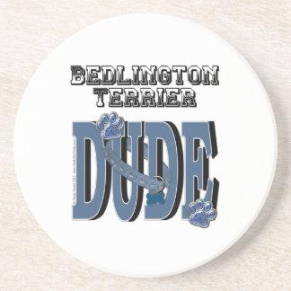 Bedlington Terrier DUDE Drink Coaster