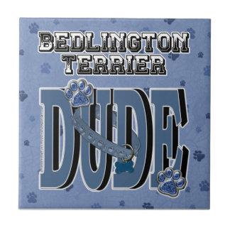 Bedlington Terrier DUDE Small Square Tile
