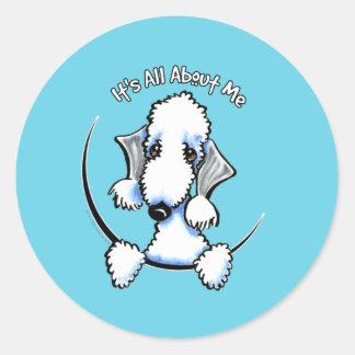 Bedlington Terrier IAAM Etiquetas Redondas