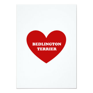 "Bedlington Terrier Invitación 5"" X 7"""