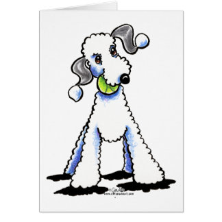 Bedlington Terrier Let's Play Greeting Card