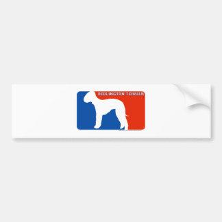 Bedlington Terrier Major League Dog Bumper Sticker Car Bumper Sticker