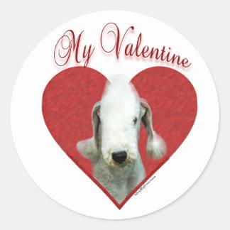 Bedlington Terrier mi pegatina de la tarjeta del