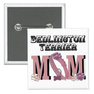 Bedlington Terrier MOM 2 Inch Square Button